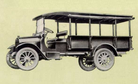 Front/Side  of Chevrolet Model T One-Ton Express 3.7 Manual, 38hp, 1922