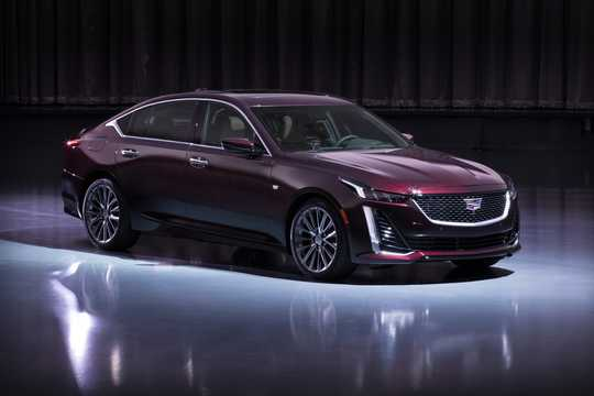Front/Side  of Cadillac CT5 3.0 V6 Automatic, 340hp, 2020