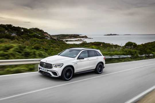 Front/Side  of Mercedes-Benz AMG GLC 63 S 4MATIC+  , 510hp, 2019