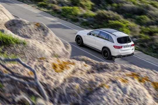 Back/Side of Mercedes-Benz AMG GLC 63 S 4MATIC+  , 510hp, 2019