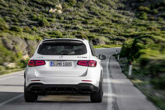 Back of Mercedes-Benz AMG GLC 63 S 4MATIC+  , 510hp, 2019