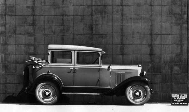 Side  of Chevrolet International Landau 3.2 Manual, 47hp, 1929