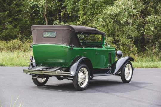 Back/Side of Chevrolet International Phaeton 3.2 Manual, 47hp, 1929