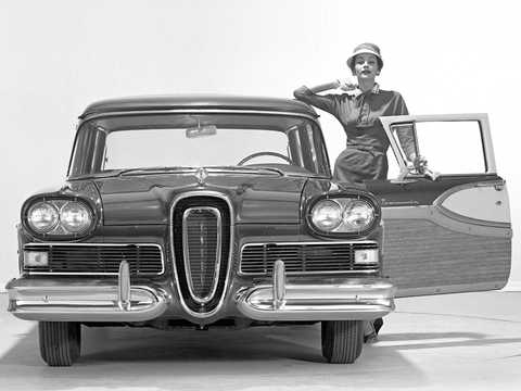Front  of Edsel Bermuda 5.9 V8 Automatic, 307hp, 1958