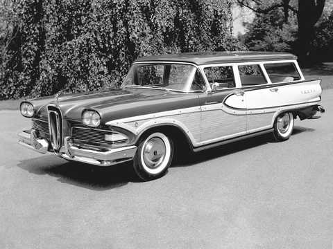 Front/Side  of Edsel Bermuda 5.9 V8 Automatic, 307hp, 1958
