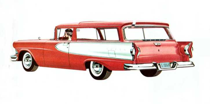 Back/Side of Edsel Roundup 5.9 V8 Automatic, 307hp, 1958