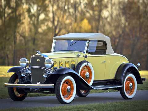 Front/Side  of Chevrolet Confederate Roadster 3.2 Manual, 61hp, 1932
