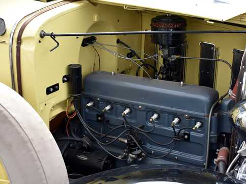 Engine compartment  of Chevrolet Confederate Roadster 3.2 Manual, 61hp, 1932
