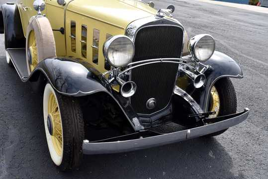 Close-up of Chevrolet Confederate Roadster 3.2 Manual, 61hp, 1932
