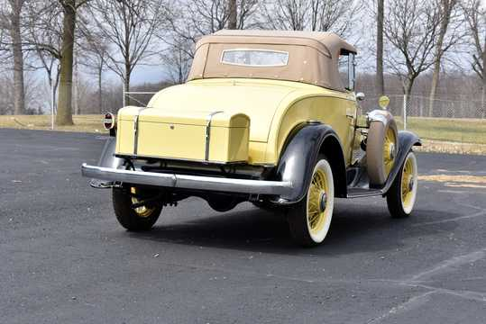 Back/Side of Chevrolet Confederate Roadster 3.2 Manual, 61hp, 1932