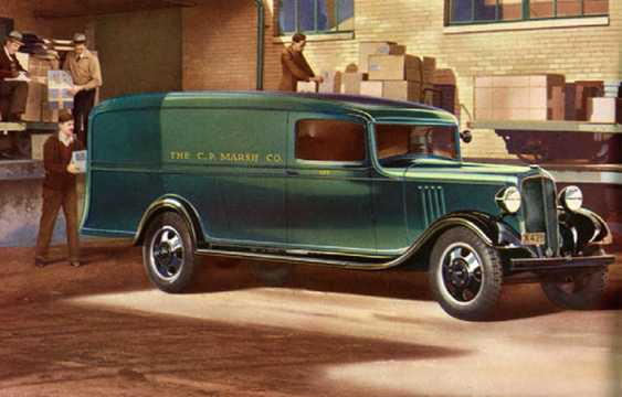 Front/Side  of Chevrolet Model DB Panel Truck 3.4 Manual, 57hp, 1934