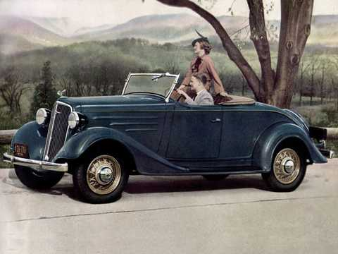 Front/Side  of Chevrolet Standard Sport Roadster 3.4 Manual, 75hp, 1935