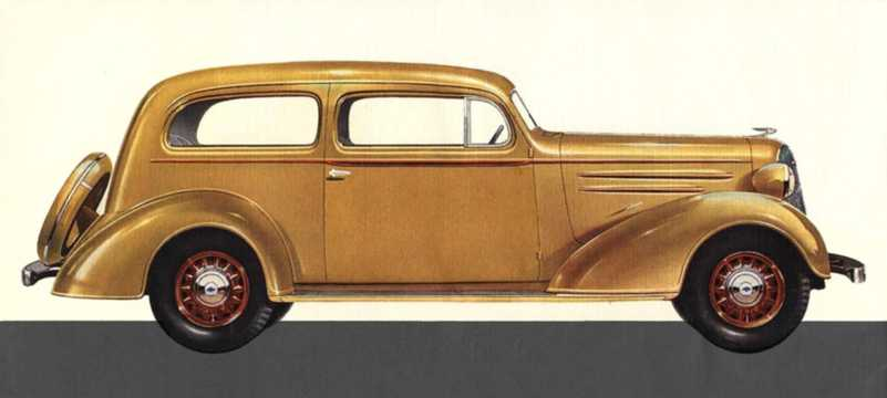 Side  of Chevrolet Standard Coach 3.4 Manual, 80hp, 1936