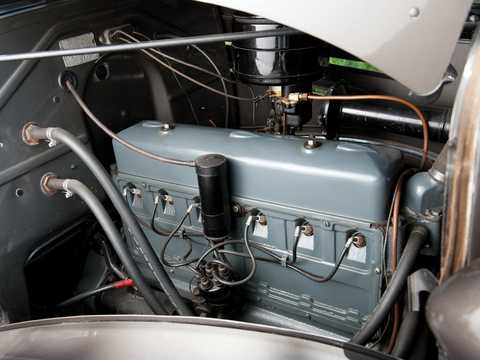 Engine compartment  of Chevrolet Master Deluxe Coupé 3.4 Manual, 80hp, 1936
