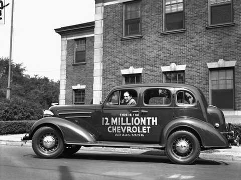 Side  of Chevrolet Master Deluxe Sport Sedan 3.4 Manual, 80hp, 1936