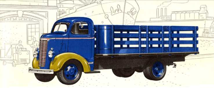 Front/Side  of Chevrolet Model WD 1.5-Ton COE 3.5 Manual, 81hp, 1940