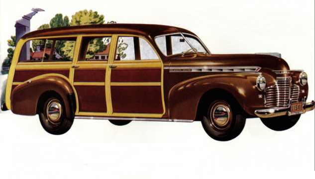 Front/Side  of Chevrolet Special Deluxe Station Wagon 3.5 Manual, 91hp, 1941