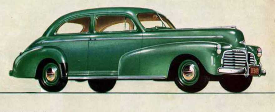 Front/Side  of Chevrolet Master Deluxe Town Sedan 3.5 Manual, 91hp, 1942