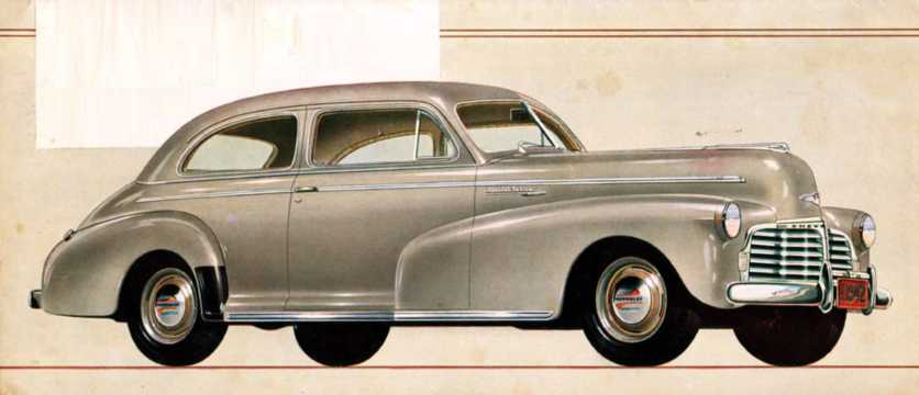 Front/Side  of Chevrolet Special Deluxe Town Sedan 3.5 Manual, 91hp, 1942