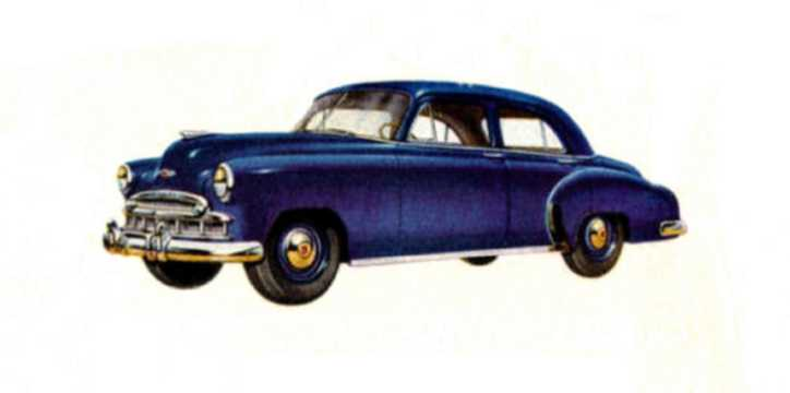 Front/Side  of Chevrolet Styleline Special 4-door Sedan 3.5 Manual, 91hp, 1949