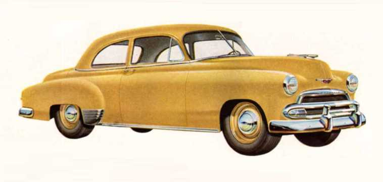 Front/Side  of Chevrolet Styleline Special 2-door Sedan 3.5 Manual, 93hp, 1951