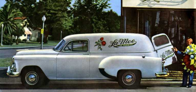 Side  of Chevrolet One-Fifty Sedan Delivery 3.5 Manual, 93hp, 1953