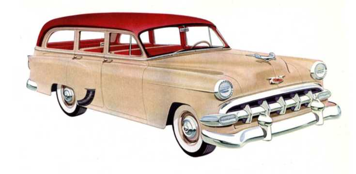 Front/Side  of Chevrolet One-Fifty Handyman 1954