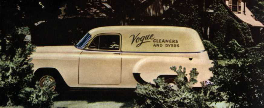 Side  of Chevrolet One-Fifty Sedan Delivery 1954