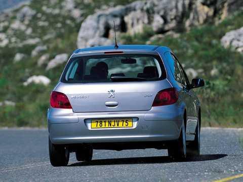 Back/Side of Peugeot 307 3-door 2002