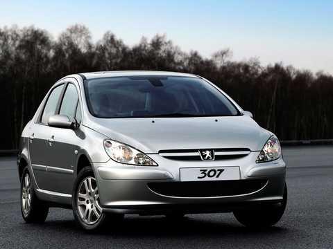 Front/Side  of Peugeot 307 Sedan 2003