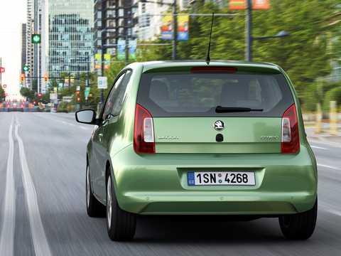 Back/Side of Skoda Citigo 3-door 2012