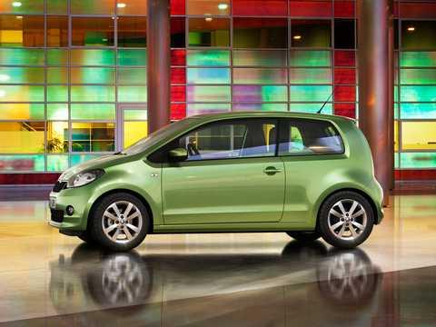 Front/Side  of Skoda Citigo 3-door 2012