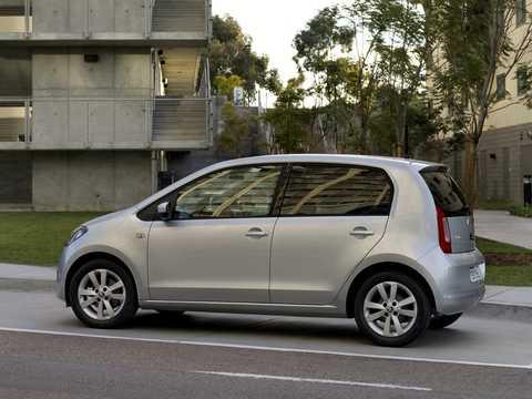 Back/Side of Skoda Citigo 5-door 2012