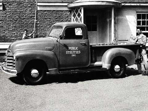Front/Side  of Chevrolet 3100 3.5 Manual, 91hp, 1947