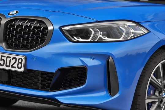 Close-up of BMW M135i xDrive  Steptronic, 306hp, 2020