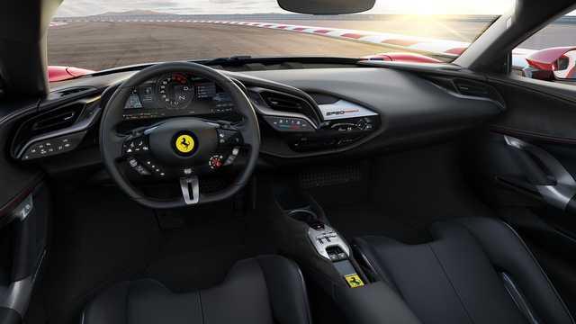 Interior of Ferrari SF90 Stradale 3.9 V8 DCT, 1000hp, 2020