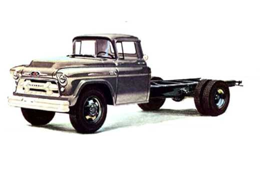 Front/Side  of Chevrolet 4100/4400/4500 3.9 Manual, 142hp, 1956