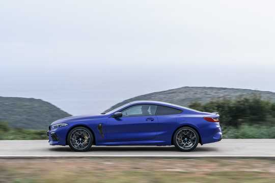 Side  of BMW M8 Competition Coupe  Steptronic, 625hp, 2020