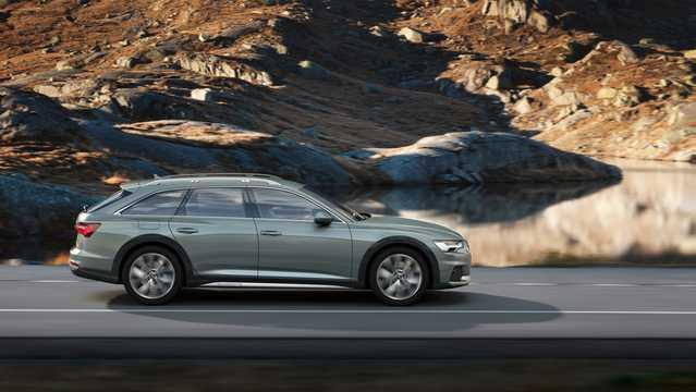 Side  of Audi A6 allroad quattro 2019