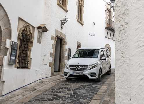 Front/Side  of Mercedes-Benz Marco Polo 300 d  9G-Tronic, 239hp, 2019