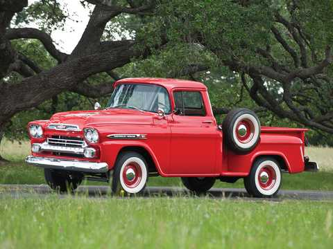 Front/Side  of Chevrolet Apache 31/32 4.6 V8 Manual, 162hp, 1959