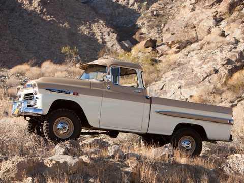 Side  of Chevrolet Apache 31/32 Fleetside NAPCO Powr-Pak 3.9 4x4 Manual, 137hp, 1959
