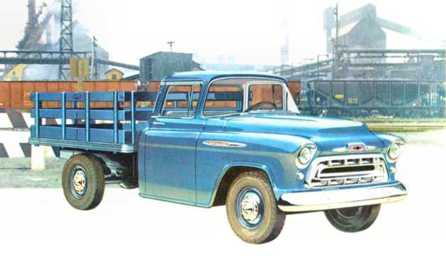 Front/Side  of Chevrolet 4100/4400/4500 3.9 142hp, 1957