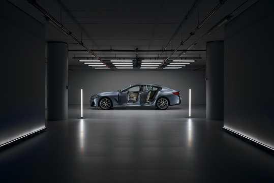 Side  of BMW M850i xDrive Gran Coupe  Steptronic, 530hp, 2020