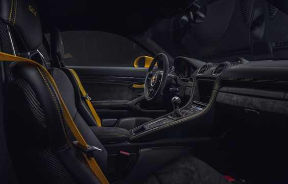Interior of Porsche 718 Cayman GT4 4.0 H6 Manual, 420hp, 2019
