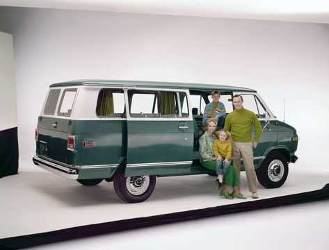Back/Side of Chevrolet G20 Sportvan 1973