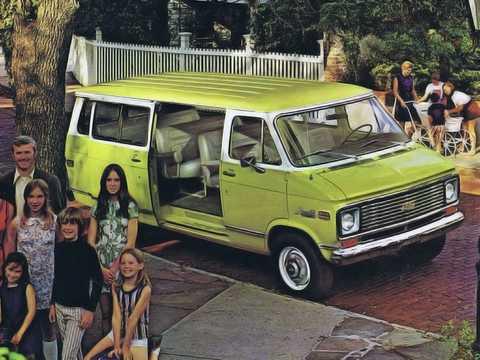 Front/Side  of Chevrolet G20 Sportvan 1973