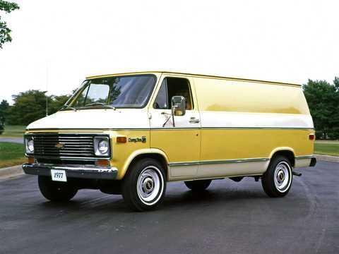 Front/Side  of Chevrolet G20 Van 1977