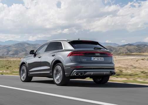 Back/Side of Audi SQ8 TDI  TipTronic, 435hp, 2020