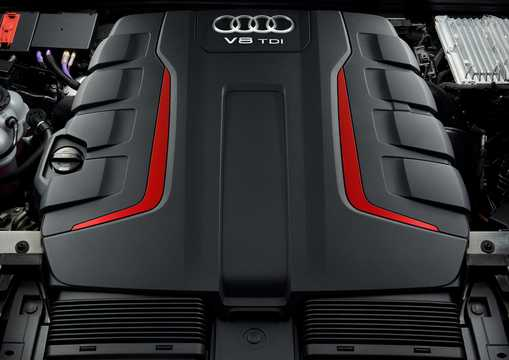 Engine compartment  of Audi SQ8 TDI  TipTronic, 435hp, 2020
